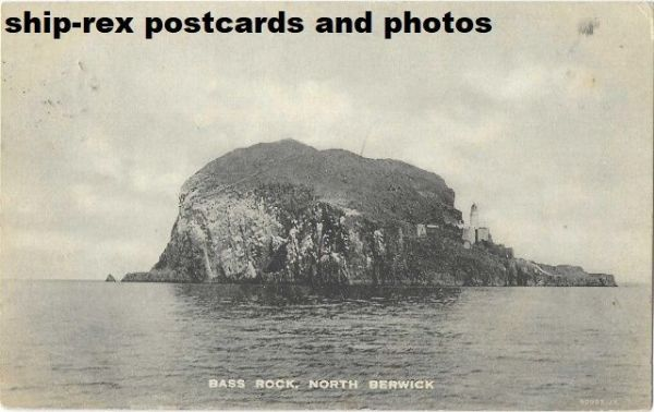 Bass Rock & lighthouse (Firth of Forth) postcard (a)